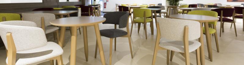 Que votre établissement propose ou non un service de restauration, il vous faut proposer un petit-déjeuner de qualité dans un lieu approprié. Pour vous aider dans l'aménagement de vos salles de restaurant et de petit-déjeuner, nous vous proposons un large choix de tables et chaises pour restaurants, de même que des fauteuils de tables pour des ambiances plus cosy et conviviales.